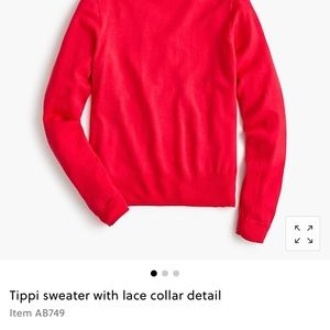 J. Crew Sweaters - J Crew Tippi sweater with lace collar